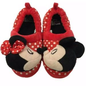 Disney Minnie & Mickey Mouse Slippers Loafers 5/6